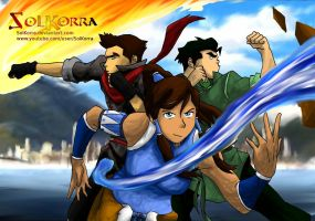 Korra Mako And Bolin In the Republic City by SolKorra