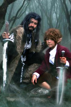 The Hobbit: Thorin and Bilbo by Junez-chan