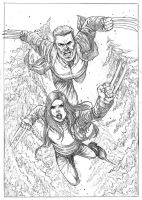 Old Logan and X23 by gregohq