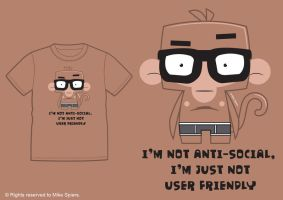 Monkey Geek Tee by spiers84
