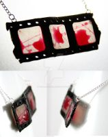 Horror Film Necklace by NeverlandJewelry
