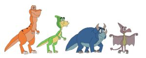 The Dinosaurs by HunterxColleen