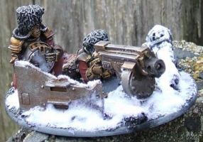 Vostroyan Heavy Bolter Team by Meaphet