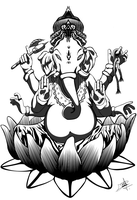 Lord Ganesha by darkbagi
