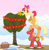 Apple Family - Decorating the Tree by Sandy--Apples