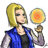 Android 18 by borockman