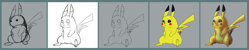 Pika step by step by twitchydoo