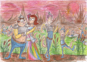 Party in the Viltheed's swamp by Ginger-Ann