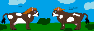 Daniela and Gwen as cows by thetrans4master