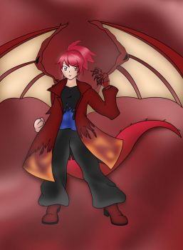 Ruby Dragon - Alternate Wings by Nesgate