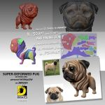 SUPER-DEFORMED PUG 3D Modelling by dnhart13