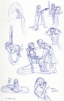 Rapunzel Sketchbook Montage 2014 by kuabci