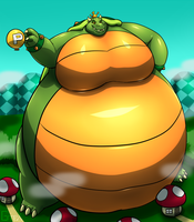 Giant Pear King Koopa by RickyDemont