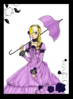 Purple Rose by Noriko-Sugawara