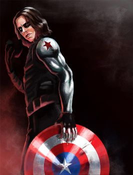 Captain America: The Winter Soldier: Bucky by DarkMousyR
