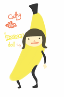 cat the banana by eluzaberry