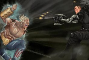 Commission: Raikage vs Lawrence Barrett by Amenoosa