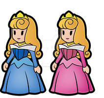 Paper Mario Aurora  [Pink and Blue] by Decapitated-Kittens