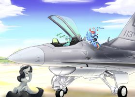 Ponies and the Fighting Falcon by F-NAR