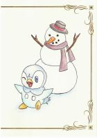 Piplup and the Snowman by tiffanYuhan