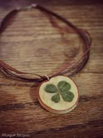 Four Leaf Clover Necklace by CreativityFTCorrupt