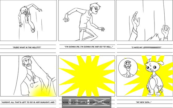 Superpowers and New pet storyboards by denahzi