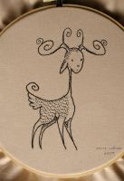 Embroidery - Deer by mymlansdotter