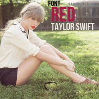 Font Red Taylor Swift by VanesaParawhore