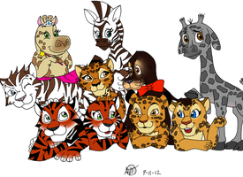The Kiddies of Madagascar by Furattii