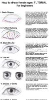 Tutorial: Drawing female eyes - for beginners by Demoniac-Angel