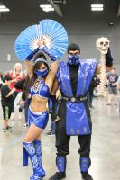 Kitana and Sub-Zero by nic0ran