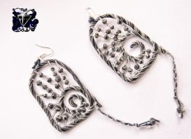 Earrings Running zebras by lAtmAl