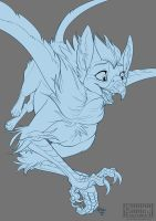 Little griffin by Key-Feathers