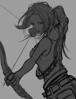 Young Lara WIP by yezzzsir