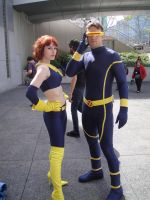 Cyclops and Jean Grey by arktoi