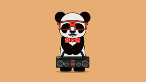 Hipster x Panda by MaxatdesigN