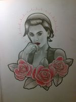 Women with roses by smurfpunk