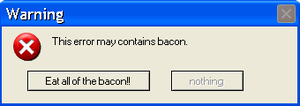 Warning: Error containing bacon by LR-Studios