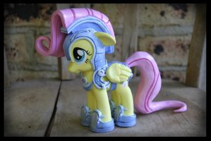 SOLD: Jousting Fluttershy Custom 2 by Nazegoreng