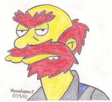 Groundskeeper Willy Drawing by MarioSimpson1