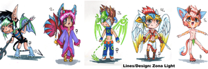 Male Monster Adopts (OPEN) by Zona-Light