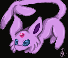 Espeon doodle by Mirera
