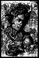 Infested potrait of a lady by gromyko