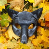 New Black Fox Leather Mask by merimask