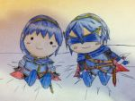 Marth dolls (colored and traced ver.) by eriej12