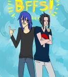 Hitoshi and Sasuke hanging out by Clawkwerk