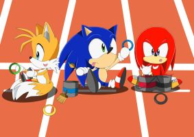 Team Sonic at the Olympics by Lucky-Sonic-77-d