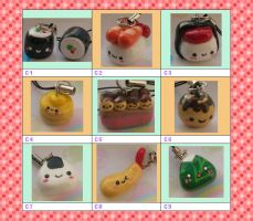 Chart C  $10 for any 3 charms by kneazlegurl125