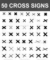 50 Vector Cross Signs by nadaimages