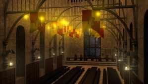 [3D] Hogwarts Great Hall by thy4205